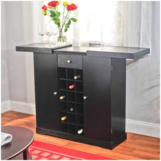 TMS 24-Bottle Wine Storage Cabinet in Black