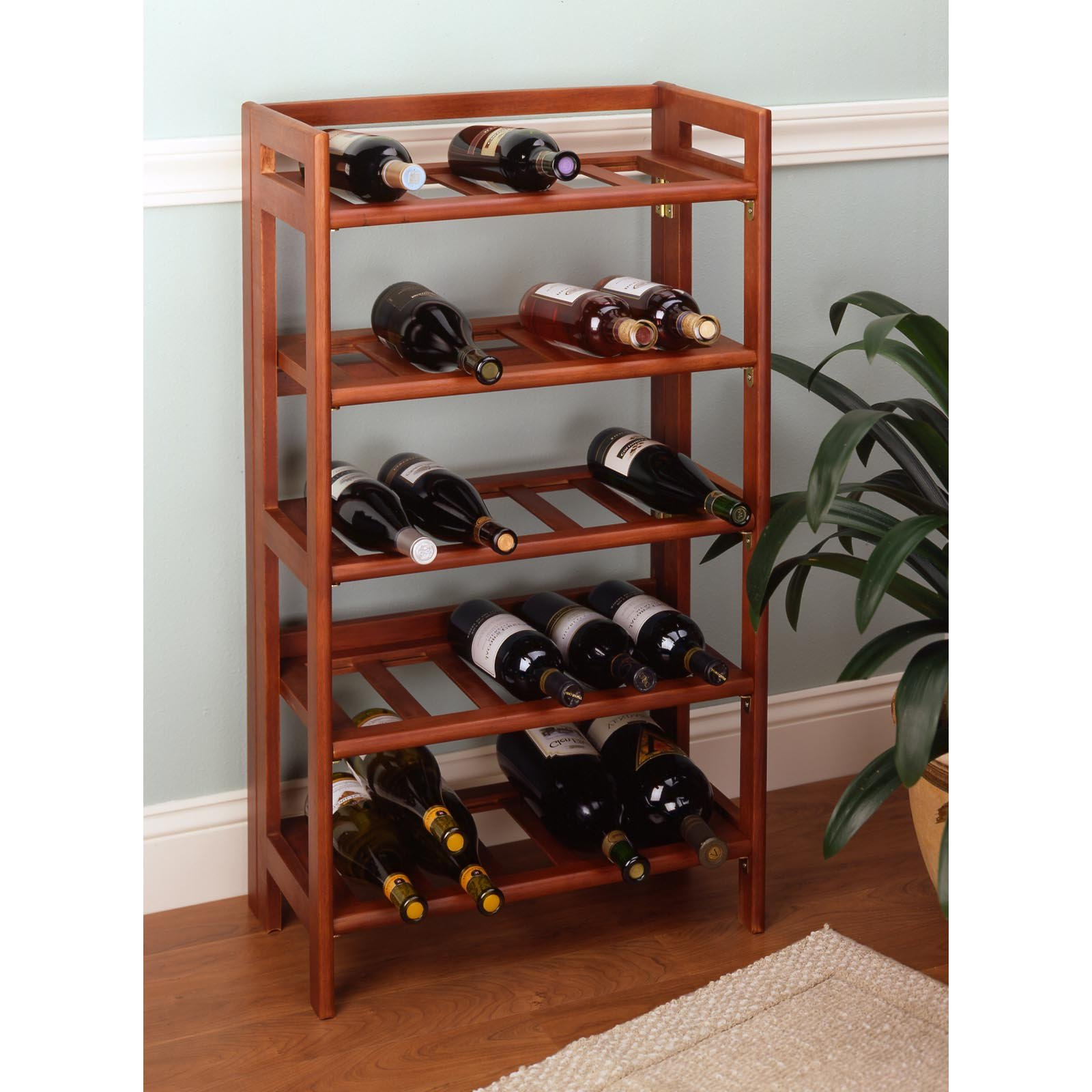 Floor Standing Wood Wine Rack