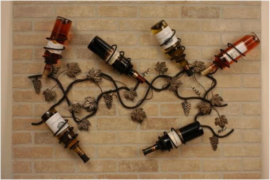 Iron Vine Wall Wine Rack